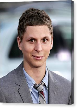 Michael Cera At Arrivals For Scott Canvas Print by Everett