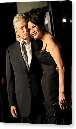 Kristin Callahan Canvas Print - Michael Douglas, Catherine Zeta Jones by Everett