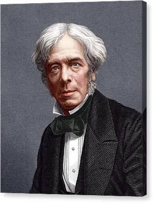 Michael Faraday, English Chemist Canvas Print by Sheila Terry
