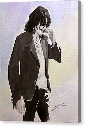 Michael Jackson Canvas Print - Michael Jackson - A Shy Man by Hitomi Osanai