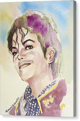 Michael Jackson - Mike Canvas Print by Hitomi Osanai