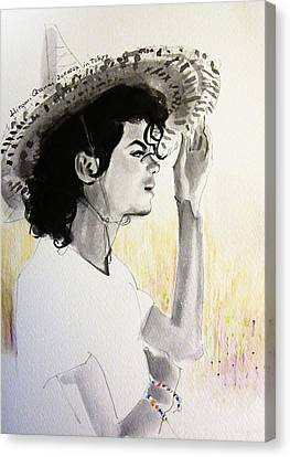 Michael Jackson Canvas Print - Michael Jackson - One Day In Your Life by Hitomi Osanai