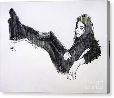 Michael Jackson - Turn It On Canvas Print by Hitomi Osanai