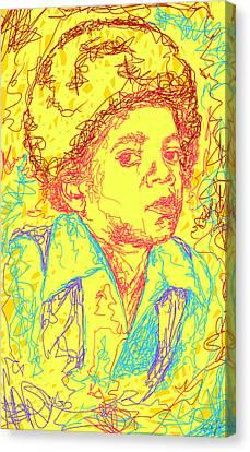 Michael Jackson Abstraction Canvas Print