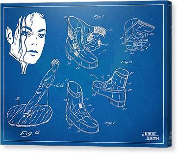 Dance Canvas Print - Michael Jackson Anti-gravity Shoe Patent Artwork by Nikki Marie Smith