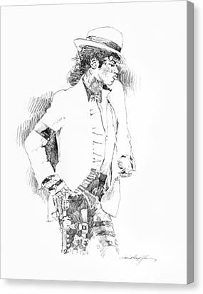 Michael Jackson Attitude Canvas Print by David Lloyd Glover