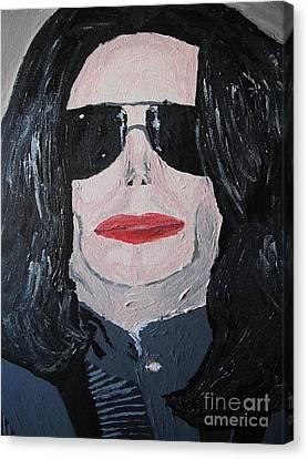 Michael Jackson King Of Pop Canvas Print by Jeannie Atwater Jordan Allen