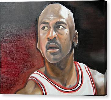 Michael Jordan Canvas Print by Matt Burke