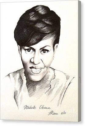 Michelle Obama Canvas Print by A Karron
