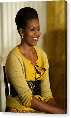 Michelle Obama Wearing A J. Crew Canvas Print
