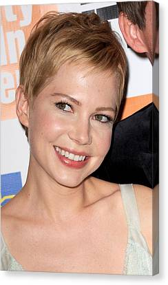Michelle Williams At Arrivals For My Canvas Print by Everett