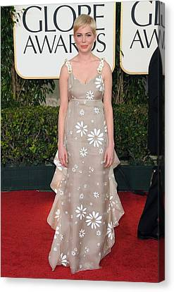 Michelle Williams Wearing A Valentino Canvas Print by Everett