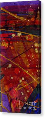 Mickey's Triptych - Cosmos II Canvas Print by Angela L Walker
