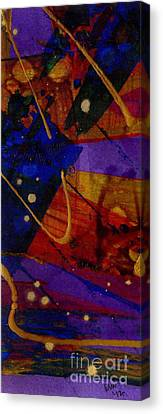 Mickey's Triptych - Cosmos IIi Canvas Print by Angela L Walker