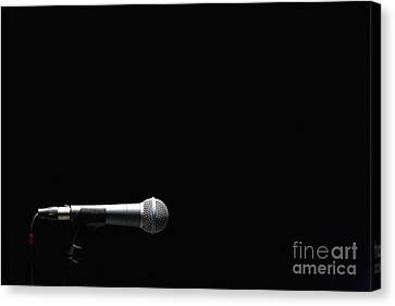 Microphone Canvas Print by Roberto Westbrook