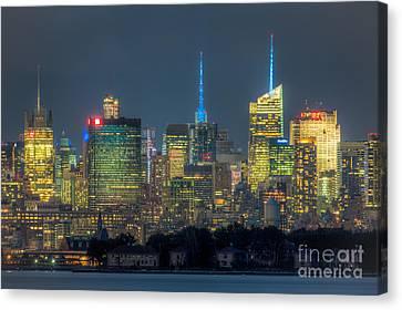 Mid-town Manhattan Twilight I Canvas Print