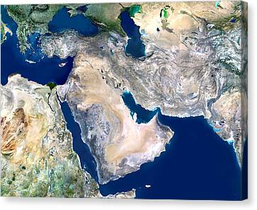 Sudan Red Canvas Print - Middle East, Satellite Image by Planetobserver