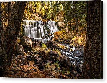 Canvas Print featuring the photograph Middle Falls Mccloud River -2 by Randy Wood