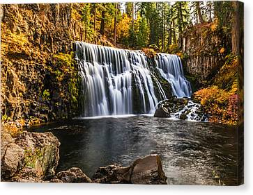Canvas Print featuring the photograph Middle Falls Mccloud River by Randy Wood