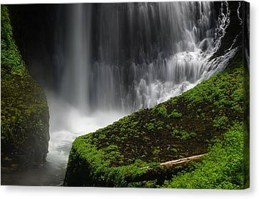 Middle North Falls Closeup Canvas Print by Ken Dietz