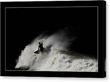 Canvas Print featuring the digital art Midnight 02 by Kevin Chippindall