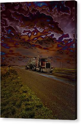 Midnight Deisel Canvas Print by Bill Tiepelman