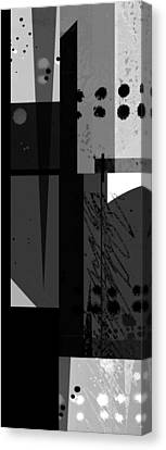 Midnight In The City 3 Triptych Canvas Print by Ann Powell