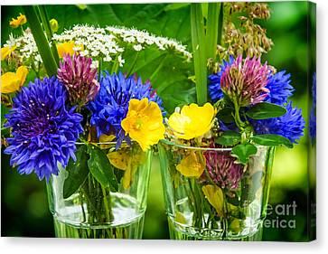 Midsummer Canvas Print - Midsummer Flowers by Lutz Baar