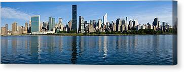 Midtown Manhattan Across The East River Crop3 Canvas Print by Val Black Russian Tourchin
