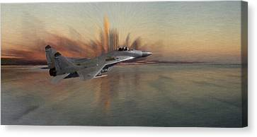 Mig 29 Approaching Canvas Print by Steve K