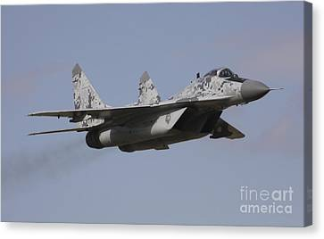 Mig-29 Of The Slovak Air Force Canvas Print