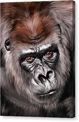 Ape Canvas Print - Mighty Joe by Julie L Hoddinott