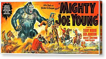 Horror Fantasy Movies Canvas Print - Mighty Joe Young, Banner Poster Art by Everett