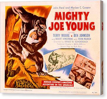 Horror Fantasy Movies Canvas Print - Mighty Joe Young, Terry Moore, 1949 by Everett