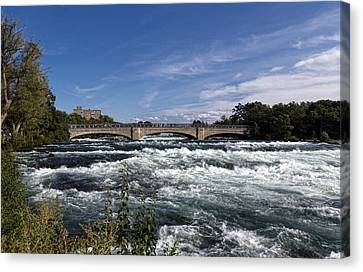 Mighty Niagara Rapids Canvas Print by Peter Chilelli