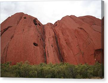 Canvas Print featuring the photograph Mighty Uluru by Laurel Talabere