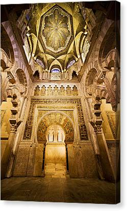 Mihrab And Ceiling Of Mezquita In Cordoba Canvas Print