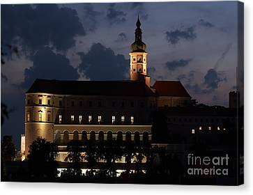 Mikulov Castle At Night Canvas Print by Michal Boubin