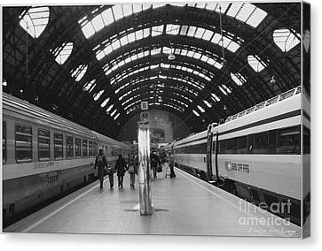 Canvas Print featuring the photograph Milano Centrale by Mariana Costa Weldon