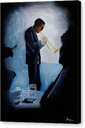 Mile Davis - Kind Of Blue Canvas Print by Brien Cole