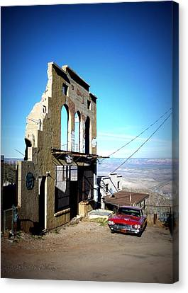 Canvas Print featuring the photograph Mile High Jerome Arizona by Cindy Wright