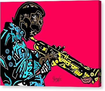 Miles Davis Full Color Canvas Print by Kamoni Khem