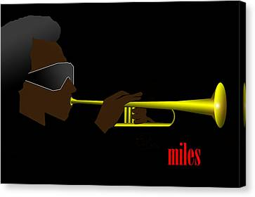 Miles Davis Canvas Print by Victor Bailey