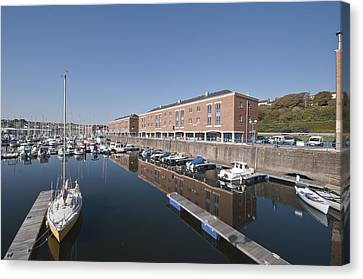 Canvas Print featuring the photograph Milford Haven Marina 2 by Steve Purnell