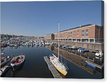 Canvas Print featuring the photograph Milford Haven Marina 3 by Steve Purnell
