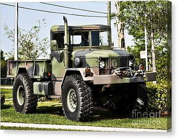 Military Truck Canvas Print by Blink Images