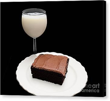 Milk And Chocolate Cake Canvas Print