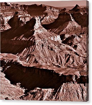 Milk Chocolate Mountains Canvas Print by Bob and Nadine Johnston