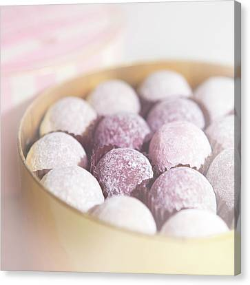 Milk Chocolate Truffles Canvas Print by Peter Chadwick LRPS