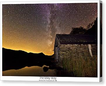 Canvas Print featuring the photograph Milky Way Above The Old Boathouse by Beverly Cash
